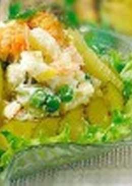 Салат из угря и раков