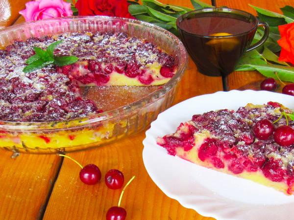 Покоряет Сразу! Пирог с вишней КЛАФУТИ