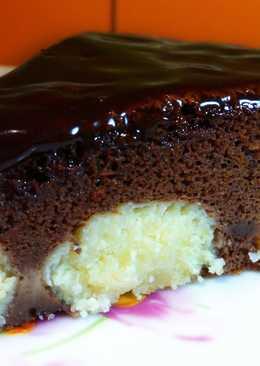 Шоколадный Пирог с Творожными Шариками. Очень Просто и Вкусно