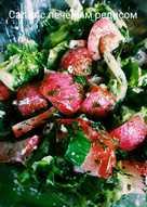 Салат с печеным редисом