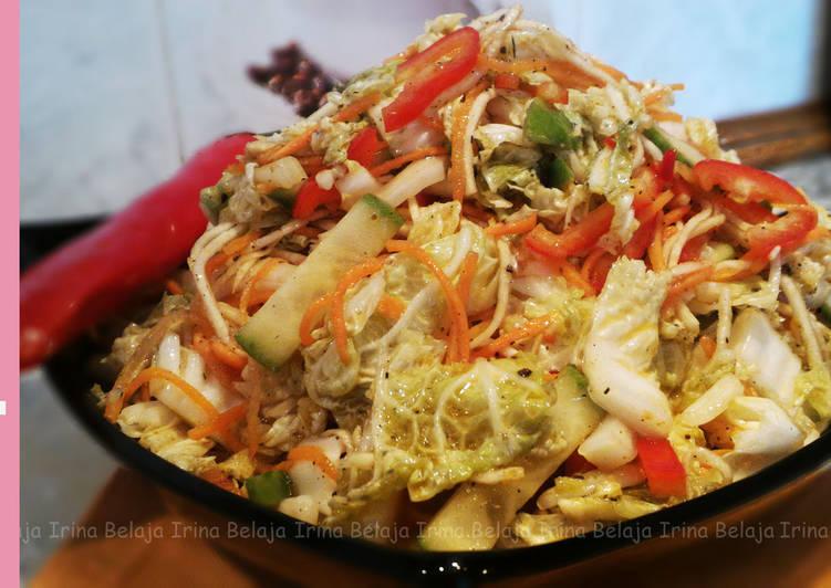 Particular beetle капусты из пекинской Рецепт по-корейски салата was now