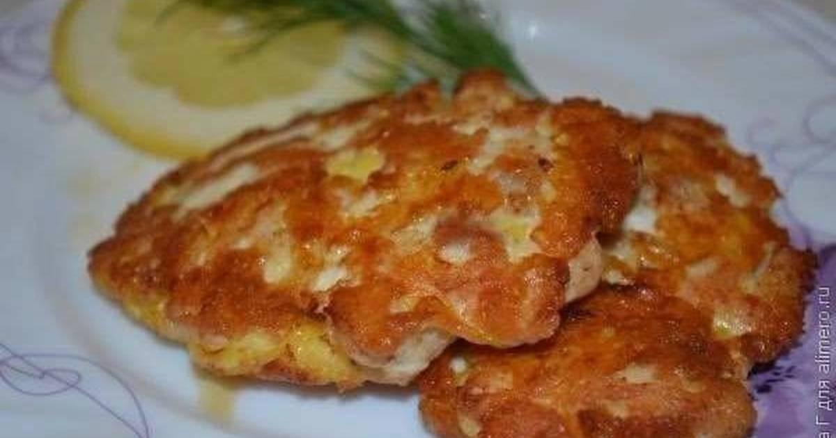 рубленные котлеты из курицы с сыром рецепт с фото