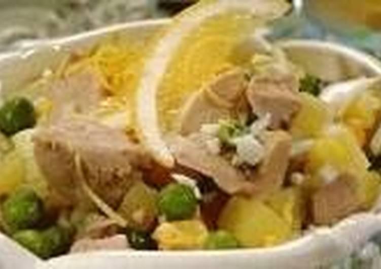 Постный картофельно-грибной салат