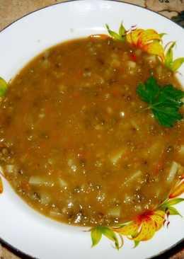 Постный суп с чечевицей (или машем)