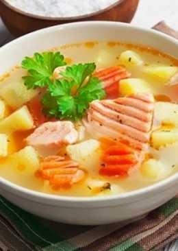 Суп из красной рыбы - рецепт