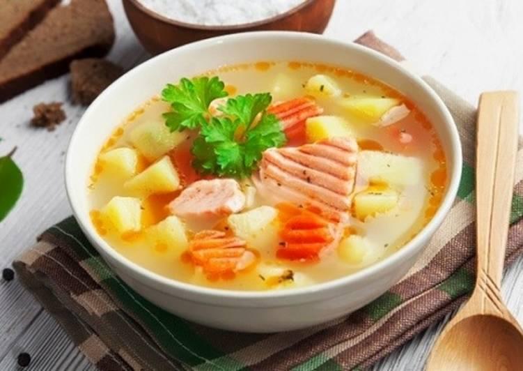 как приготовить вкусный суп с рыбой
