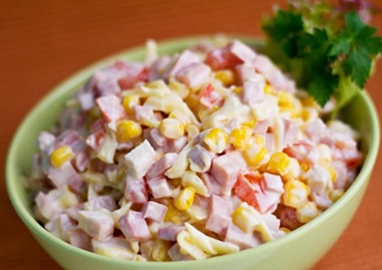 салаты с кукурузой быстрые и вкусные