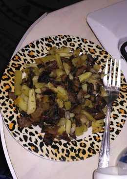 Жареная картошка с грибами #чемпионатмира#россия