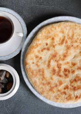 Простые хачапури с сулугуни на сковороде. #кулинарныймарафон