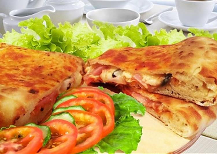 Кальцоне с ветчиной (закрытая пицца)