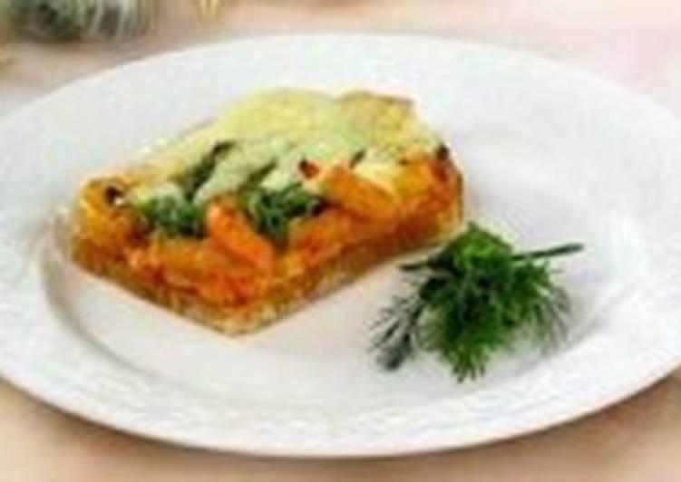 Сырные тосты с креветками