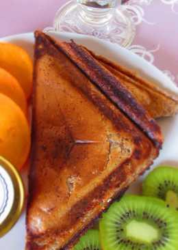 ПП-Сырники-сэндвичи с льняной мукой и бананом