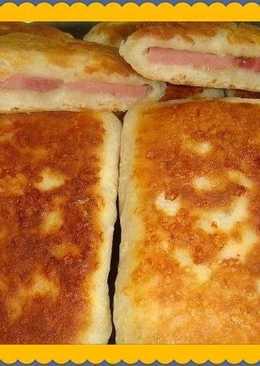 Лепешки с сыром и ветчиной на кефире
