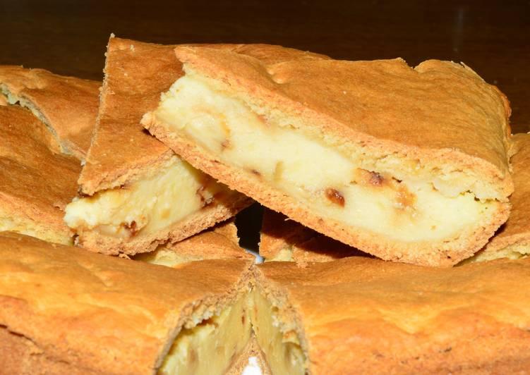 Тесто и начинка тают во рту - пирог с сыром и картофелем