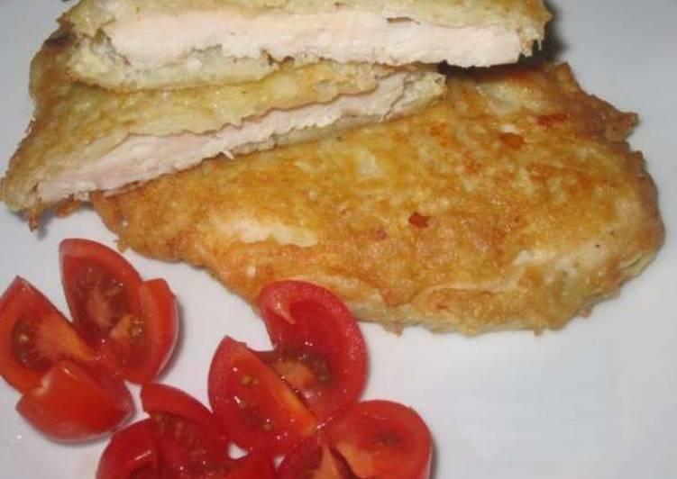 Куриные шницели в картофельном кляре