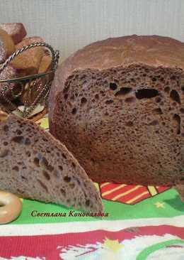 Русский черный хлеб в хлебопечке #кулинарныймарафон