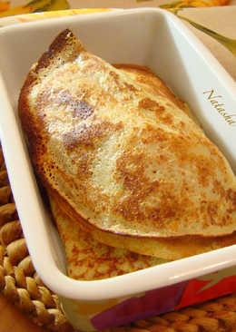 Толстые блины на кефире с адыгейским сыром