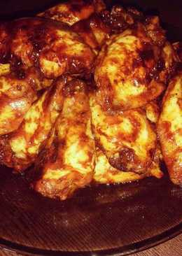 Крылышки под медово-горчичном соусом