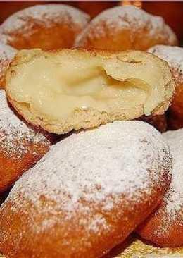 Вкуснейшие пончики с заварным кремом