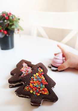 Новогоднее Впечатляющее шоколадное печенье
