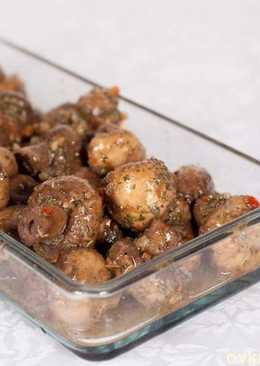 Маринованные шампиньоны по рецепту из книги Bar Tartine
