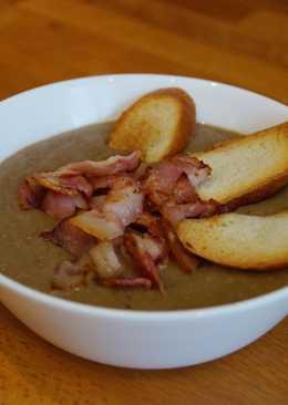 Суп пюре из чечевицы с беконом