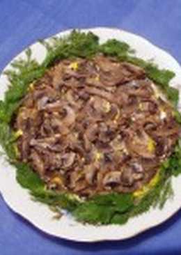 Салат с вешенкой и картофелем