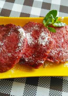 Постный десерт. Фруктовые оладьи