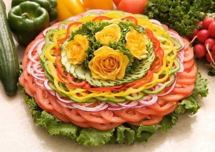 Торт из свежих овощей