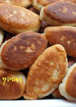 Жареные Пирожки с капустой из дрожжевого теста (постные)