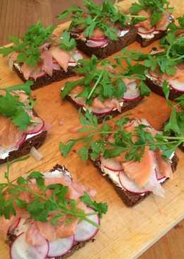 Мини-бутерброды с горбушей холодного копчения #кулинарныймарафон