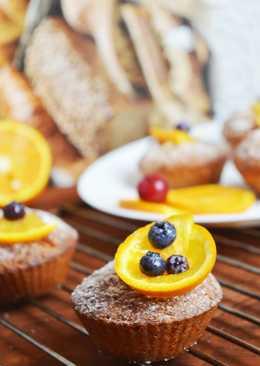 Бисквитные кексы со сгущенкой #кулинарныймарафон