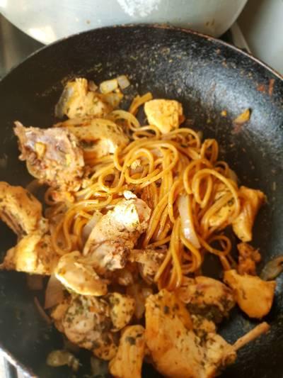 """ПП Блюдо """"Гречневые спагетти с курицей"""" #кулинарныймарафон"""