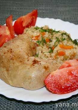 Курица с рисом и овощами в скороварке
