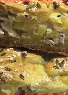 Бездрожжевой пирог с начинкой
