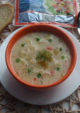 Сытный суп с крабовым мясом