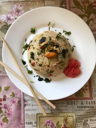 Рис с морепродуктами 🍛