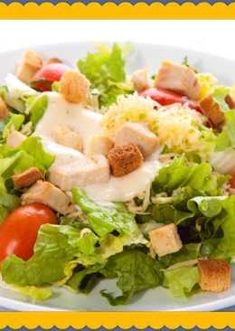 """Салат """"Цезарь"""" с курицей - Вкусно, просто и полезно"""