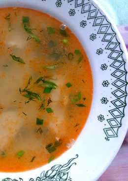 Куриный суп на креветочном бульоне