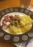 Мясо с картофелем на пару в мультиварке