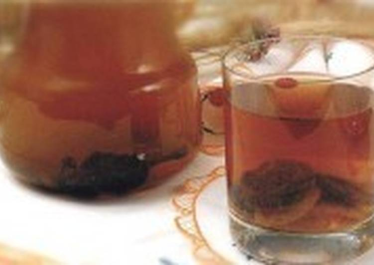 Морс из персиков и изюма