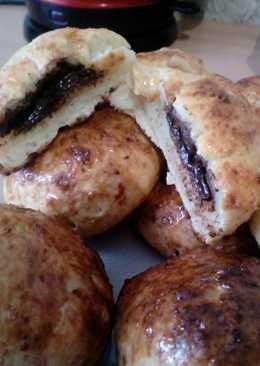 Творожные булочки с шоколадной начинкой