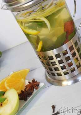 Мятный чай с фруктами и пряностями
