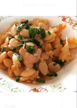 Курочка с фасолью и овощами очень вкусно, полезно, идеально сидящим на диете