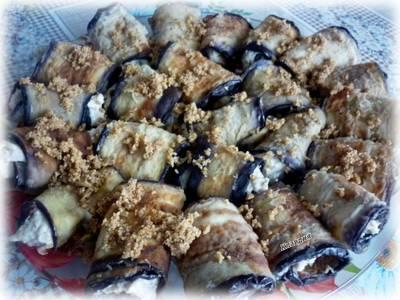 Рулетики из баклажанов с грецкими орехами #спас