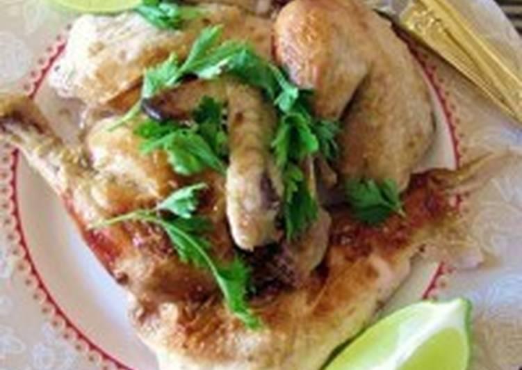 Цыпленок с начинкой из лайма