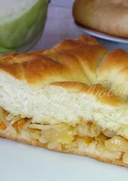 Постный пирог с капустой в духовке