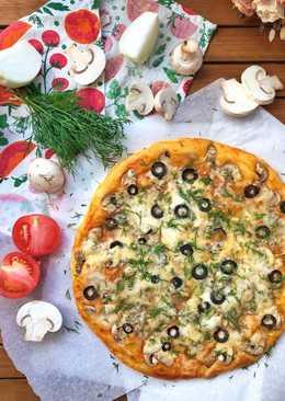 Пицца «3 сыра с грибами»