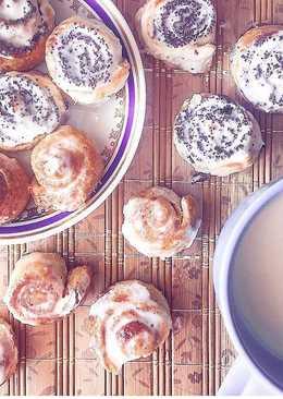 Мини булочки с маком или с корицей. #кулинарныймарафон