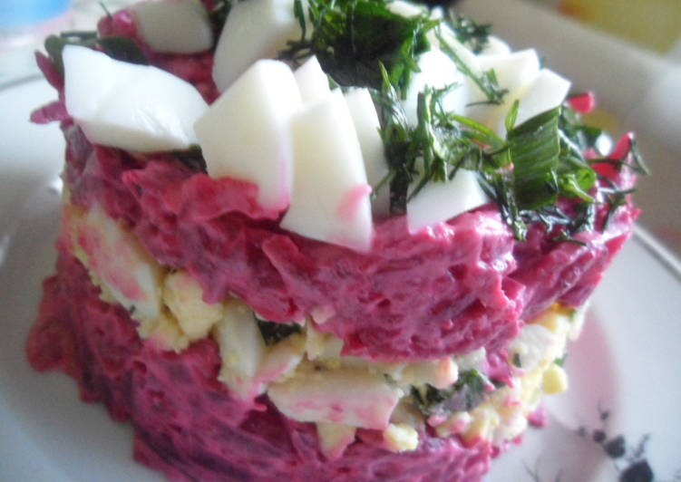 Салат из свеклы и яиц